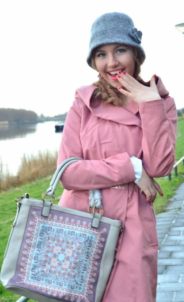 Charleston Hat, 20's clothing, Pink Riding Hood, Lady Goldapple, Pink coat