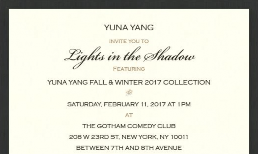 Been invited to NYFW