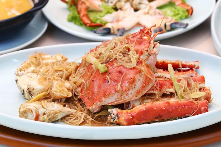 Red House Seafood Braised Alaskan Crab Bee Hoon