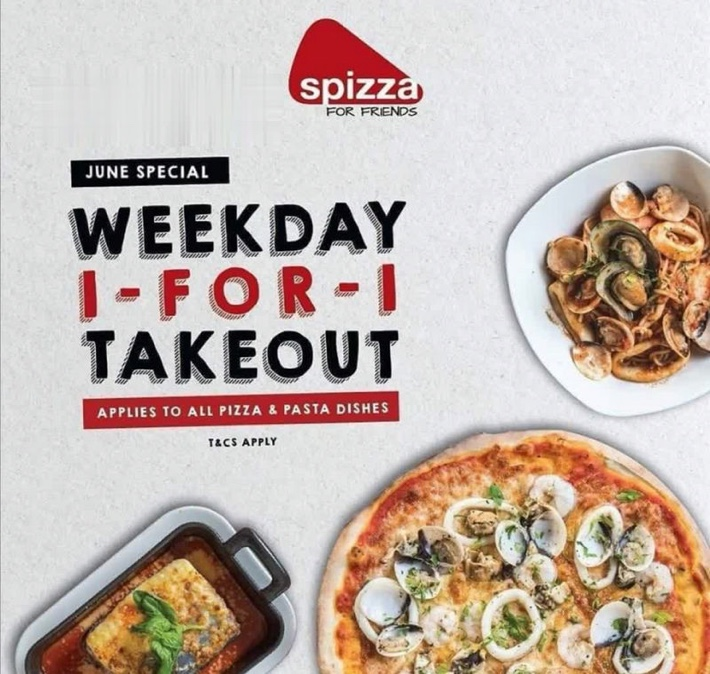 SPIZZA 1-FOR-1 TAKEOUT DEAL