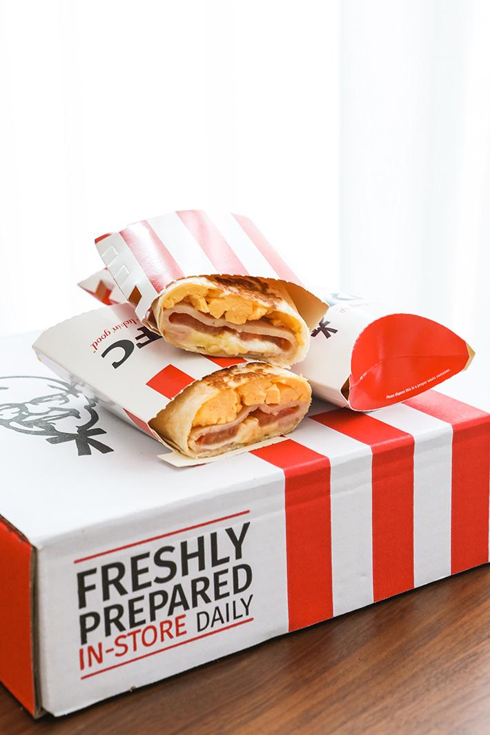KFC Chicken Ham Twister