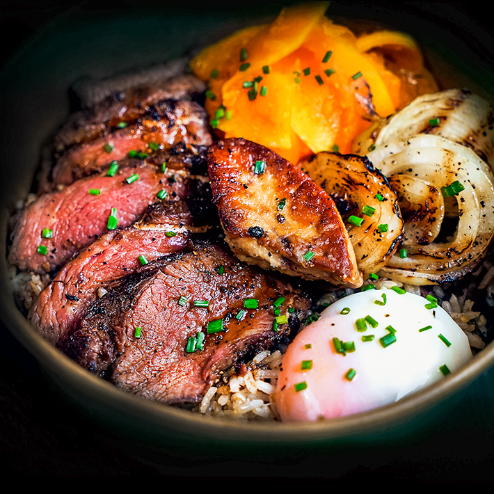 Bedrock Black Pepper Steak Rice Bowl