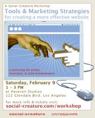 Web Tools and Marketing Strategies Workshop