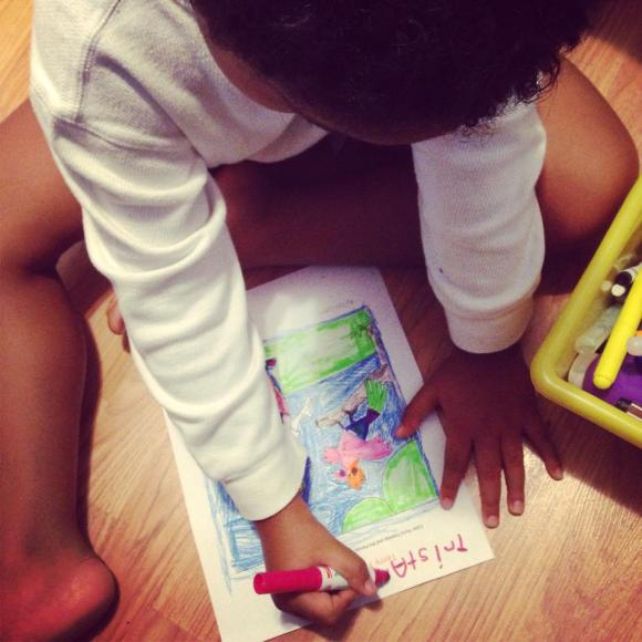 Little Man Coloring his Masterpiece: Ebook Review