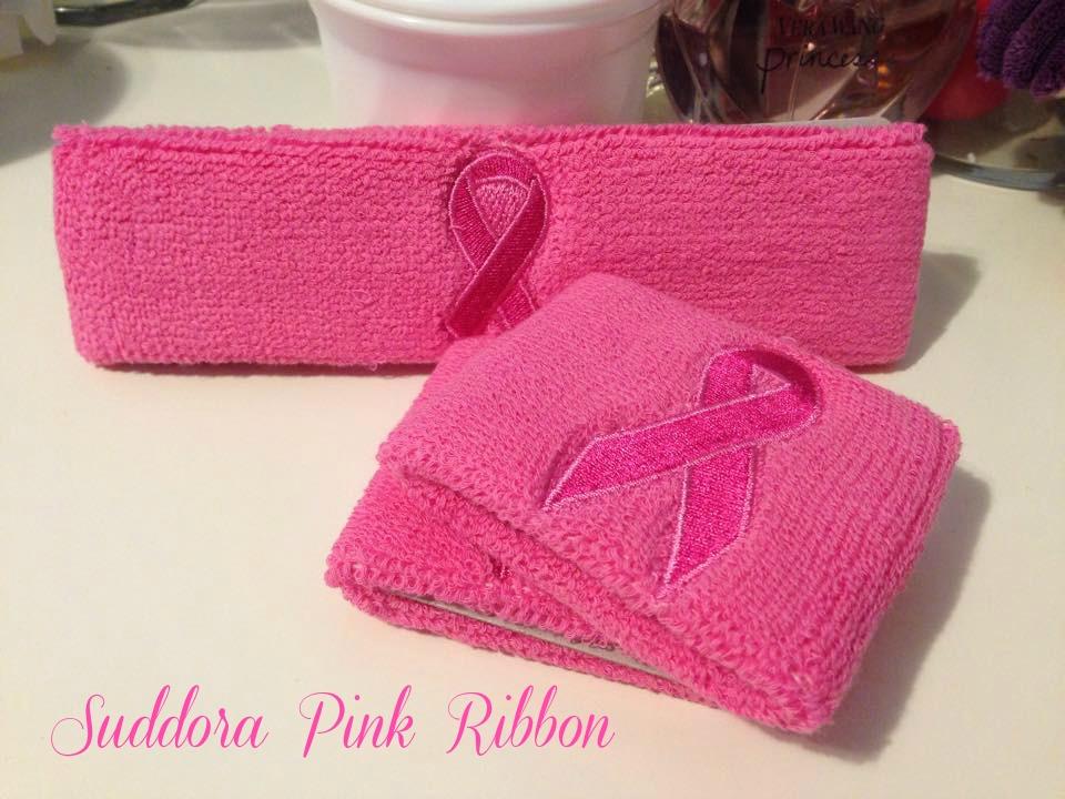 Suddora Pink Ribbon Sweatband
