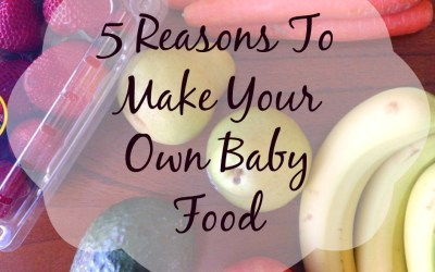 5 Reasons To Make Your Own Baby Food