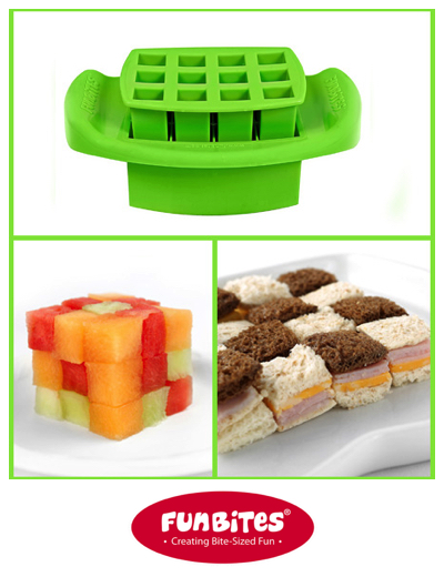FunBites Green Squares Shaped Food Cutter GIVEAWAY