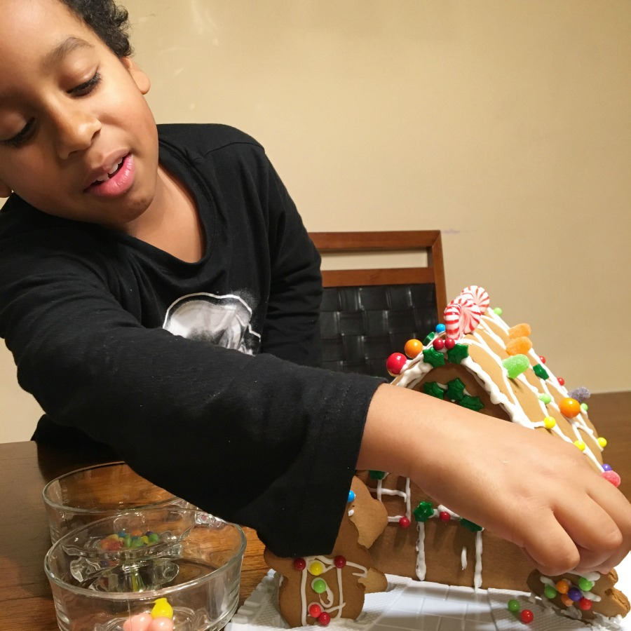Grateful Sunday: First Gingerbread House With My Family