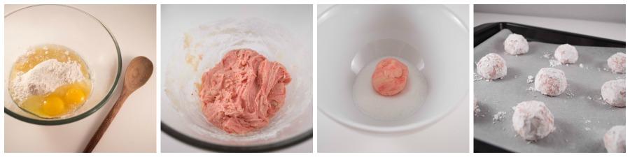 Blush Rose Valentine Crinkle Cookies