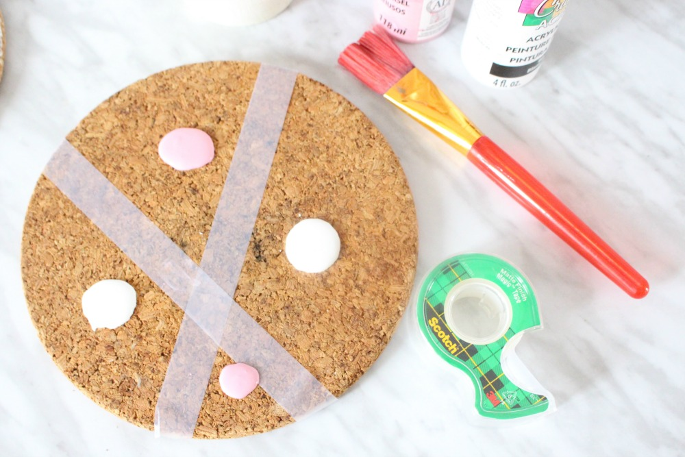 Easy DIY Pastel Cork Coasters