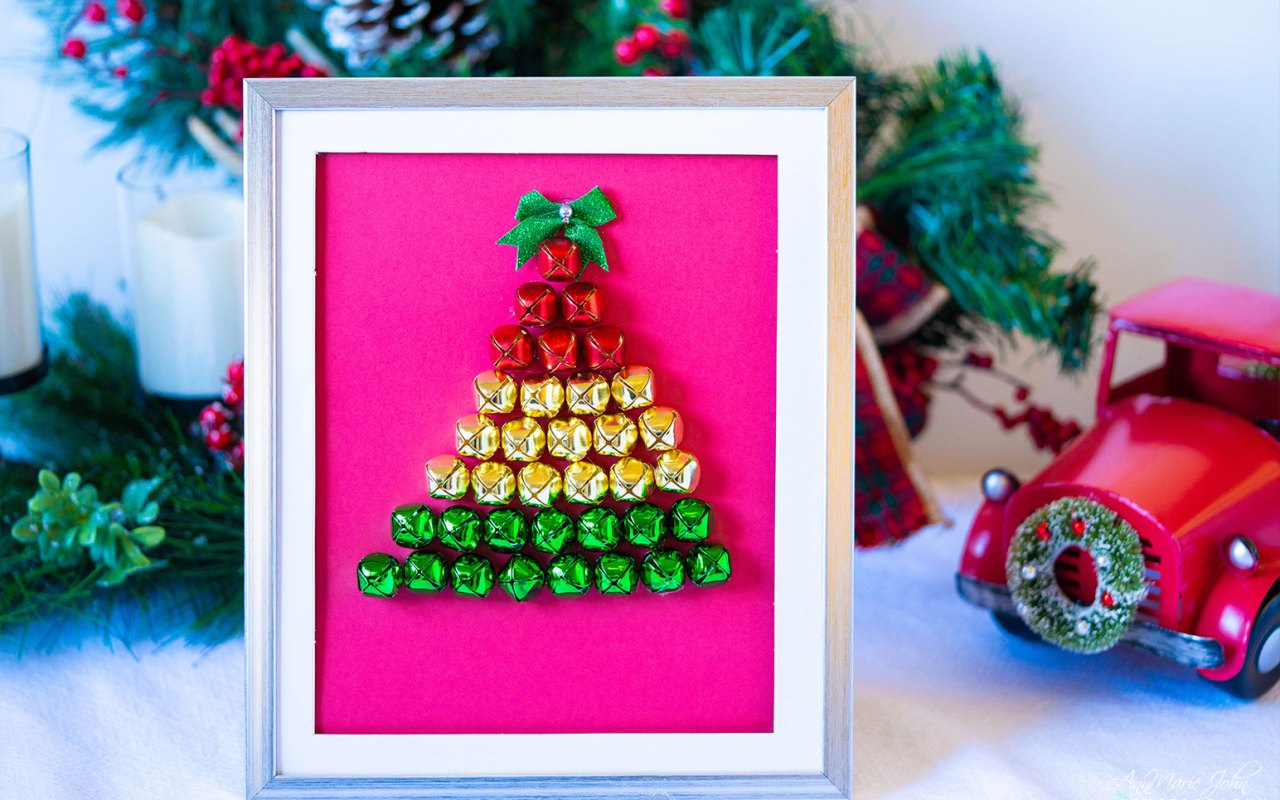 Christmas Tree Bells Shadow Box DIY