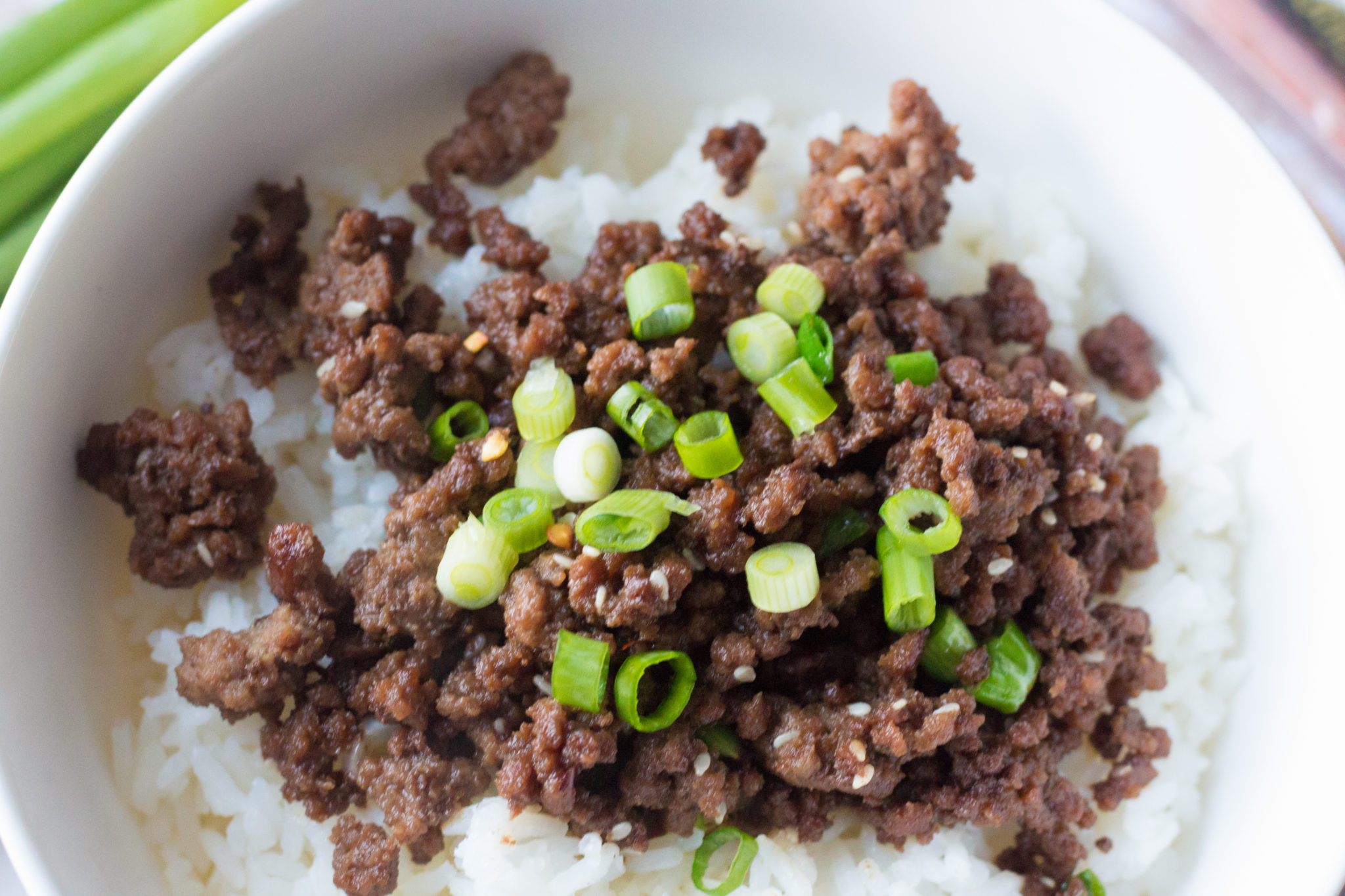 Tasty Korean Ground Beef And Rice Bowl Recipe
