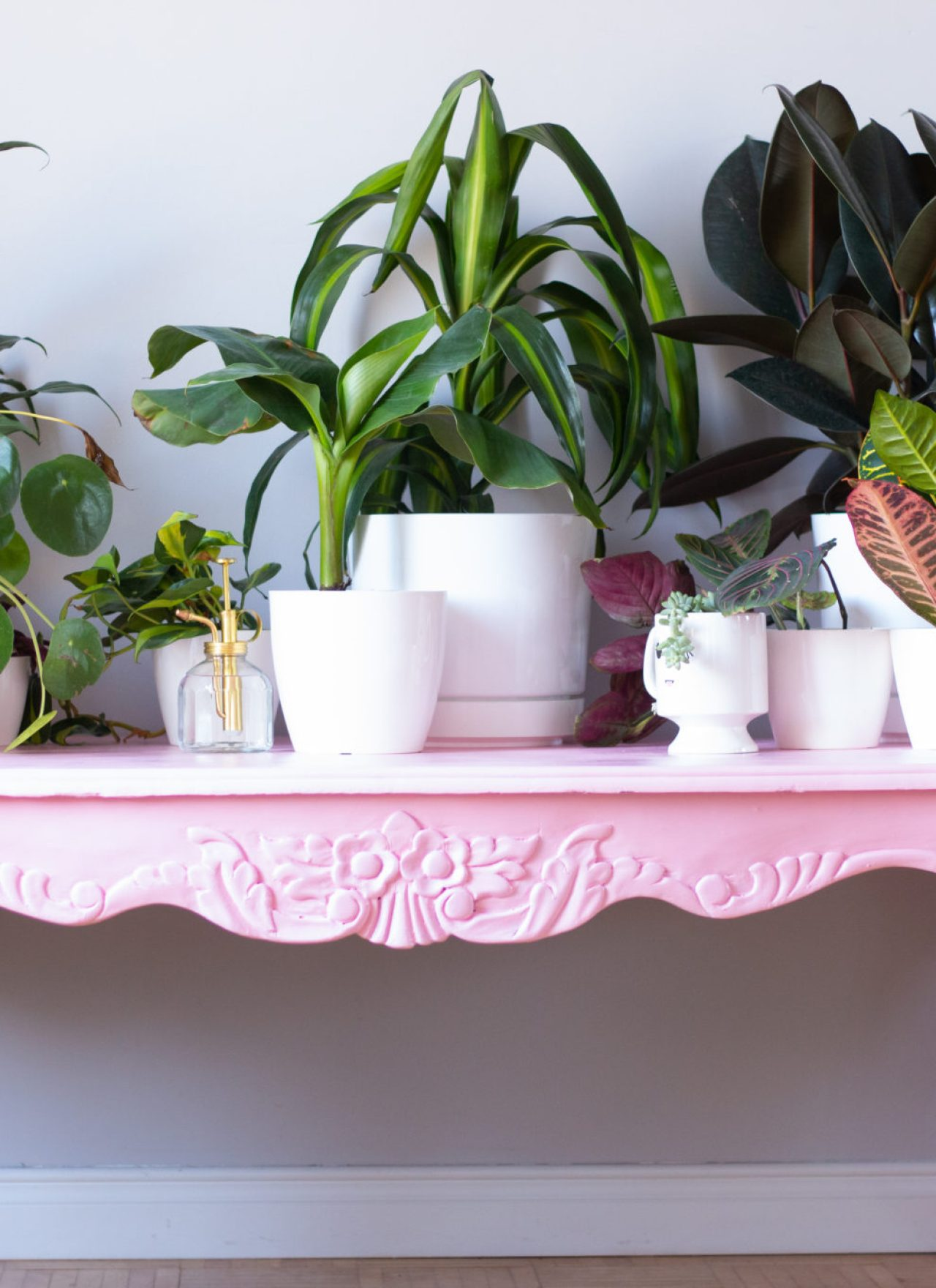 Pretty In Pink   Before & After Coffee Table Makeover
