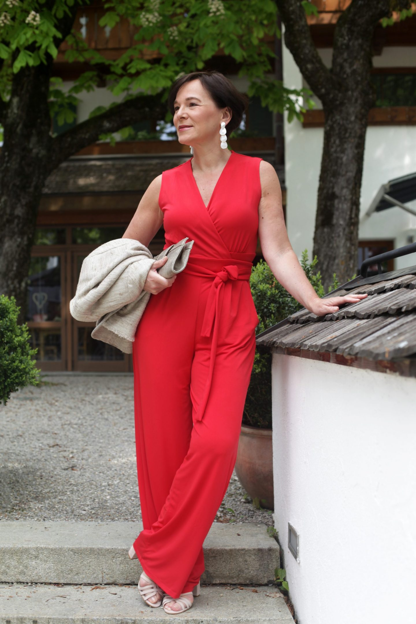 Roter Overall für die elegante Sommerparty | Lady of Style