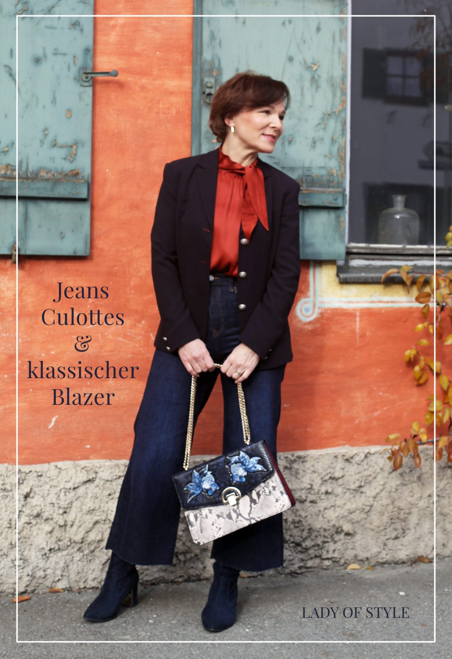 LadyofStyle Jeans Culottes Blazer Business Look