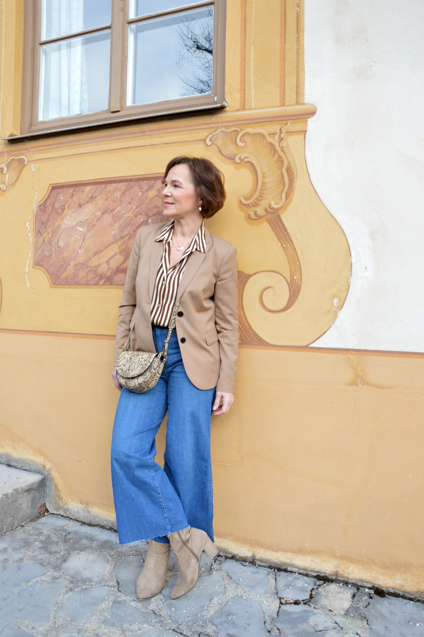 LadyofStyle Jeans Culottes Blazer 50plus Blogger