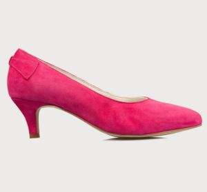 Pinke Velourleder Pumps von calla shoes