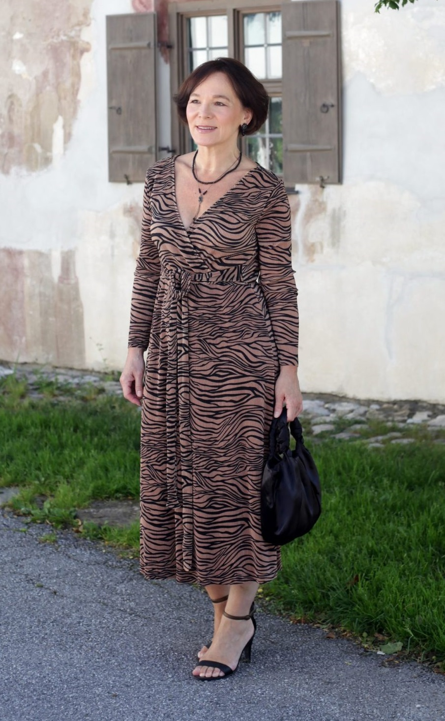 LadyofStyle About You Animal Prints Wickelkleid 50plus Blogger