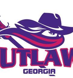 lady outlaws lacrosse logo [ 1464 x 647 Pixel ]