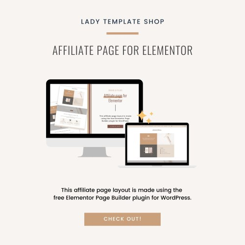 Affiliate page for Elementor