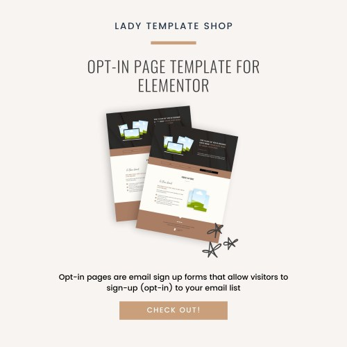 Opt-In Page Template For Elementor