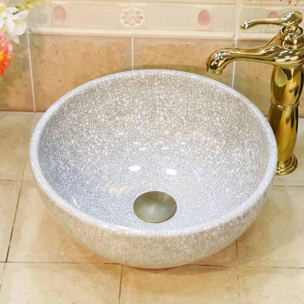 ceramic green crack small 30cm wash basin sink bathroom sink bowl countertop ceramic wash basin mini