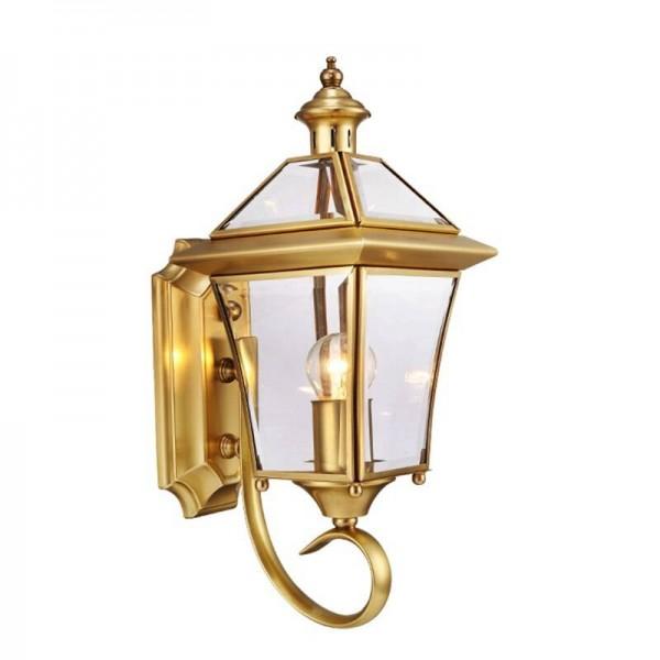 outdoor led copper wall lamp waterproof european style decorative light garden application corridor aisle balcony light