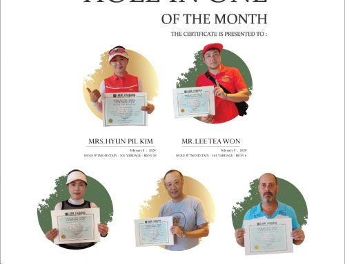 HOLE IN ONE OF THE MONTH – February 2020