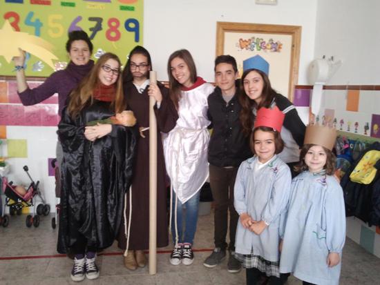 Representación teatral de los alumnos de 4º