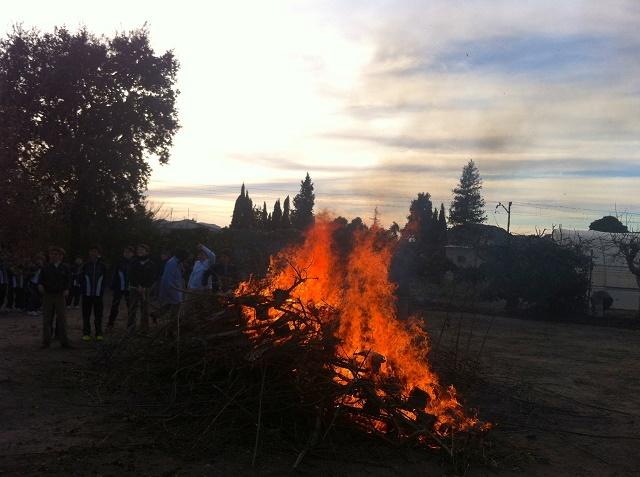 San Antón y la hoguera