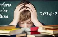 Concejalía Educación Villena, calendario definitivo 2014-15