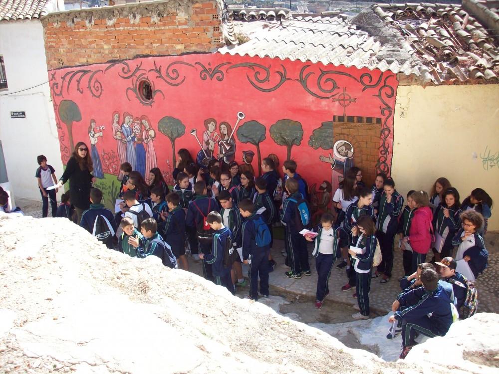 Los alumnos de 6º de excursión al Casco Histórico