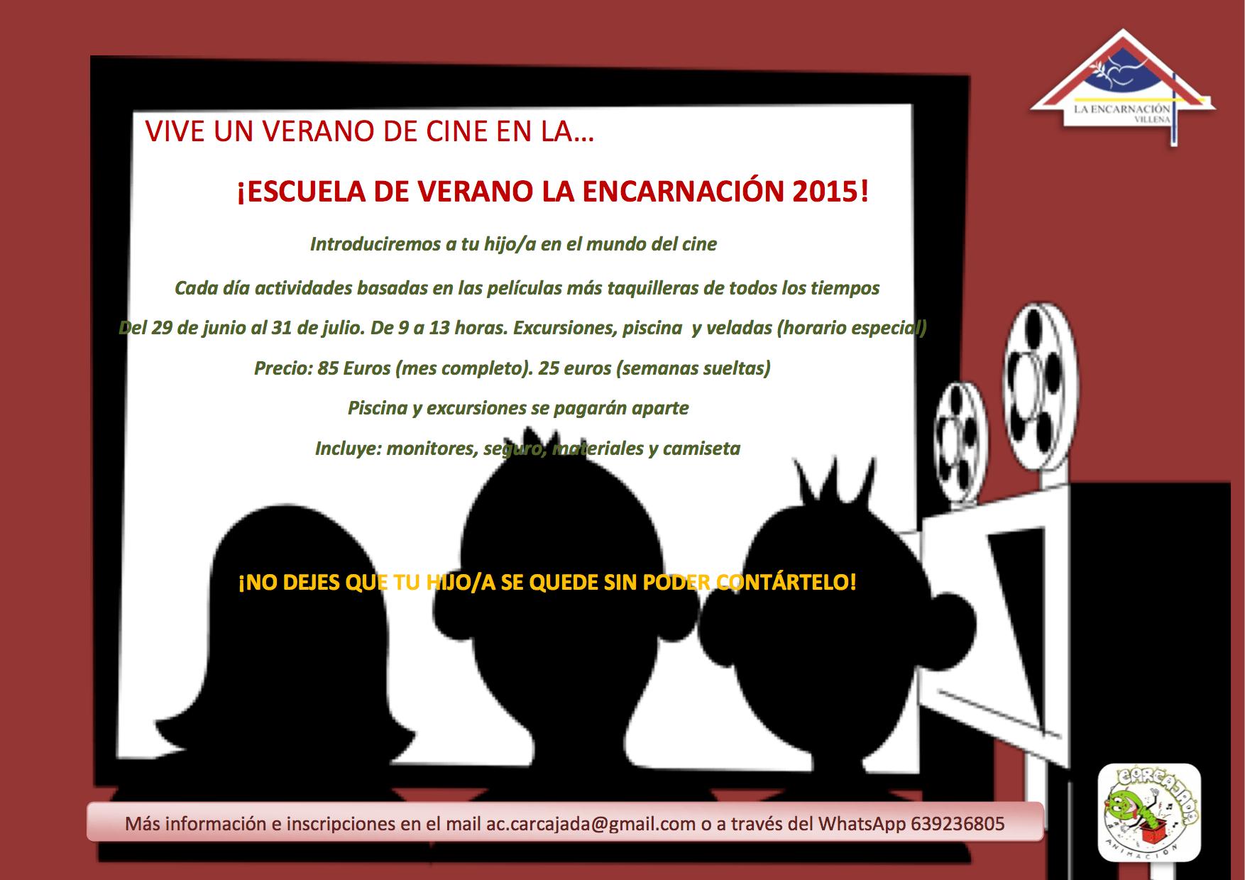 Escuela Verano 2015. Un verano de Cine.
