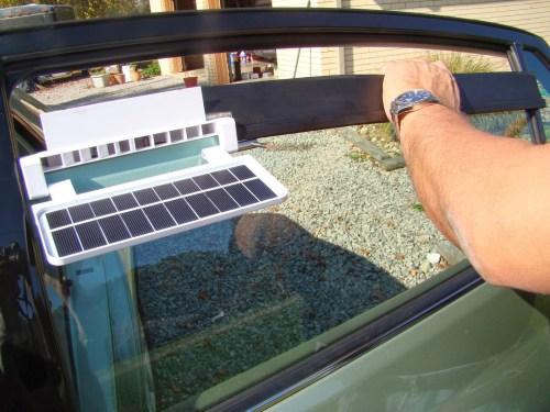 Ventilador solar para coche