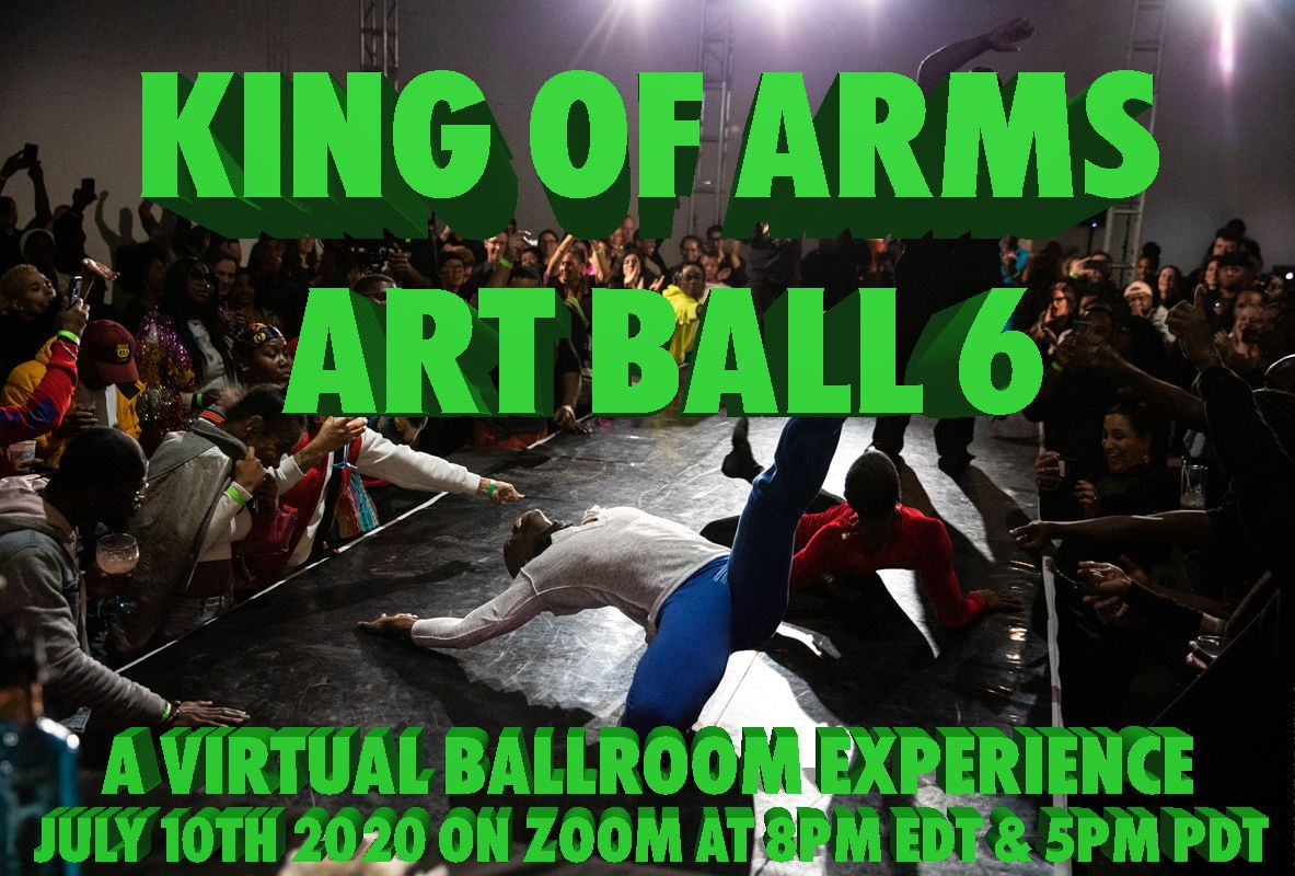 King Of Arms Art Ball Event Flyer RSVP NOW