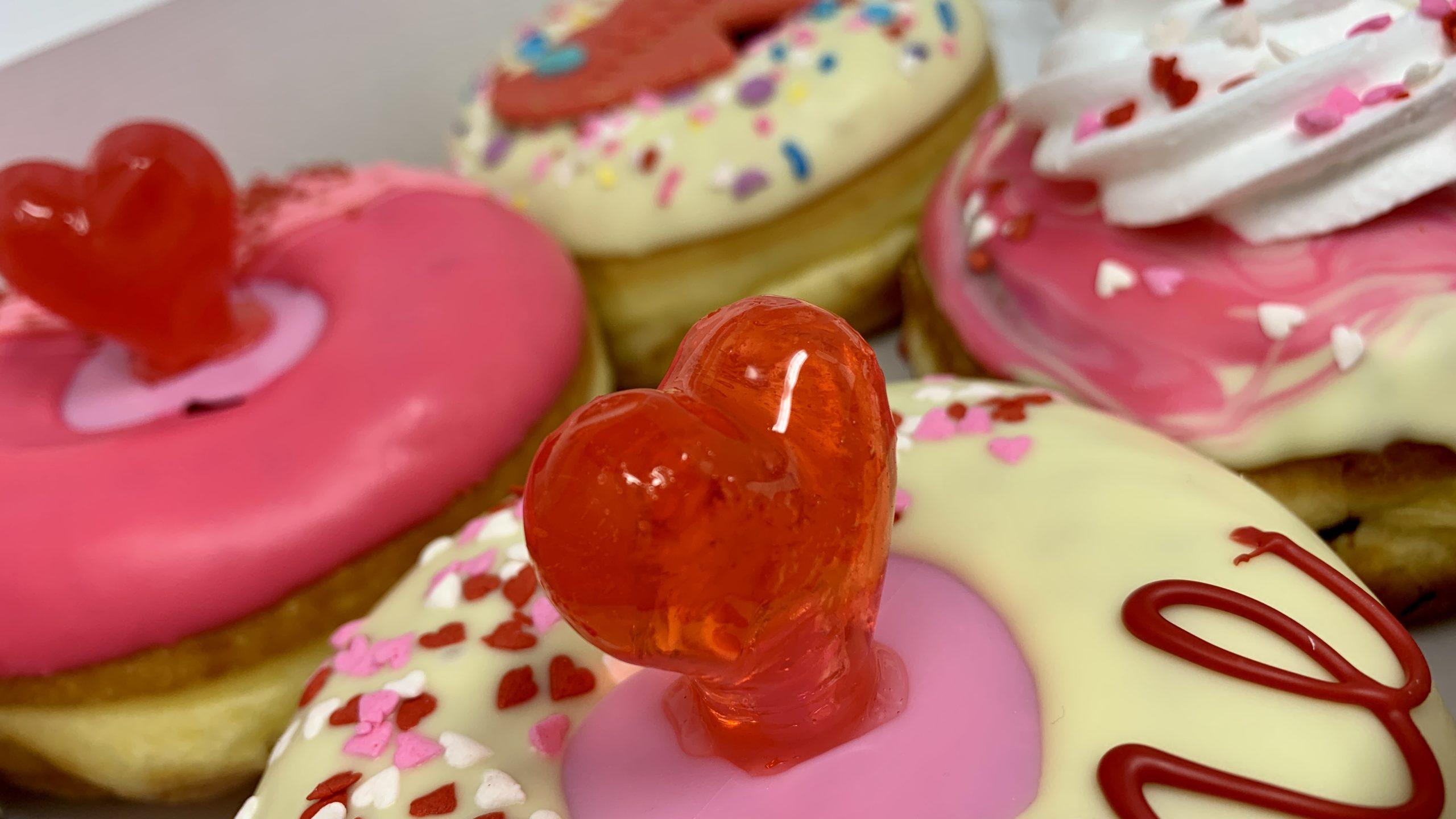Ring Pop California Donuts Valentine's Day Donut