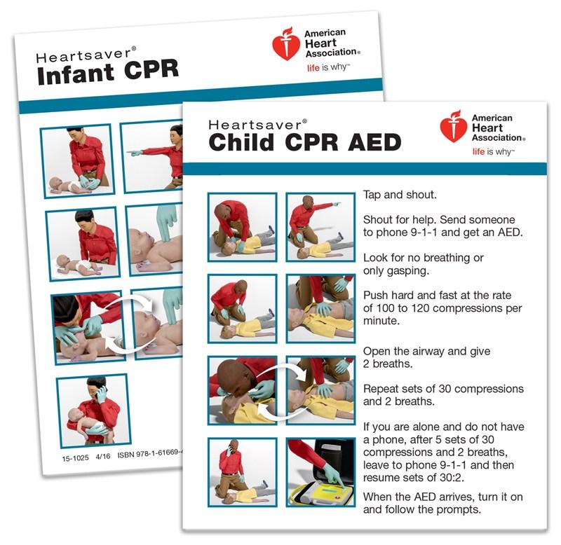 15-1025 - Heartsaver Child & Infant CPR Wallet