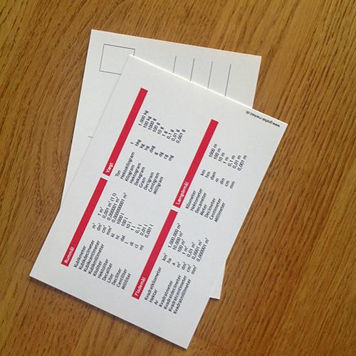 Postkort med mål og vægt 2