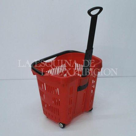 Carro canasta plastica 2 rodachinas grande