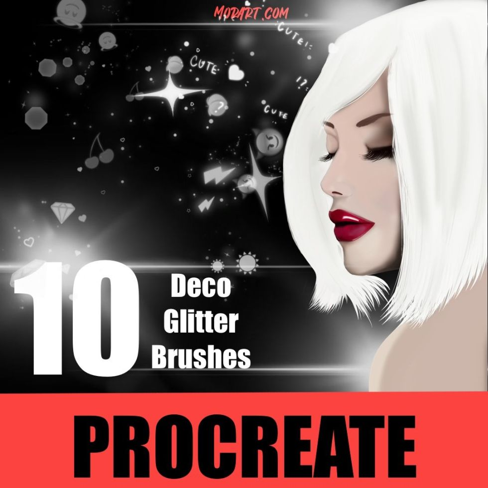 procreate brushes tools decor glitters for skin artist draw illustration