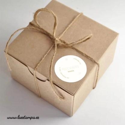 stickers redondos felicidades personalizados pegatinas para regalos, eventos