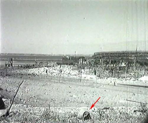 Restos de minas diseminados