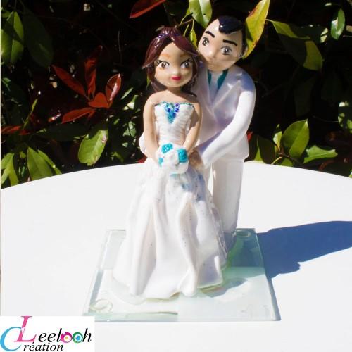 figurines personnalisées mariesBleu