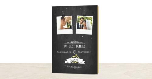 cartes de remerciements mariage personnalisées