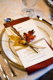 menu automne mariage