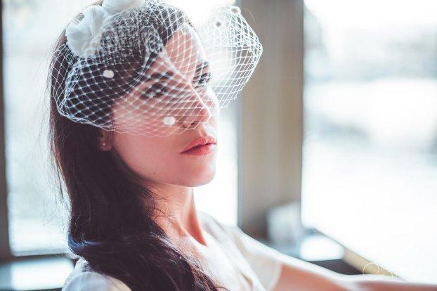 JUPE et TOP et voilette LES MARIEES FOX-mariage civil - la fabrique à mariage