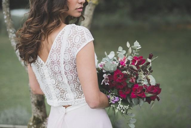 ENSEMBLE ROSE DETAIL - les mariées fox - la fabrique a mariage