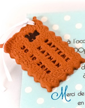 faire-part biscuit ourson chocolat