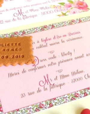 faire-part mariage biscuit personnalisé