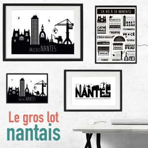 Lot Affiches Nantes